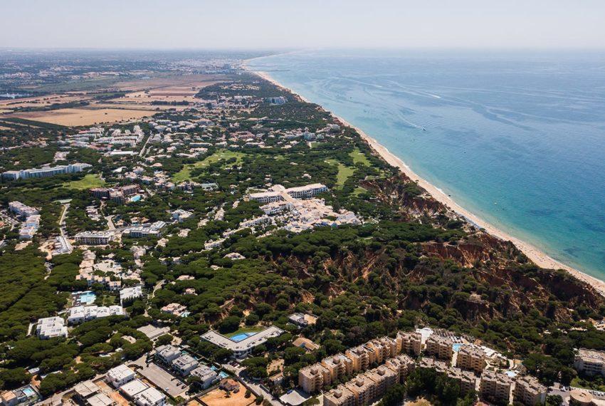 vista aerea alta sentido Vilamoura